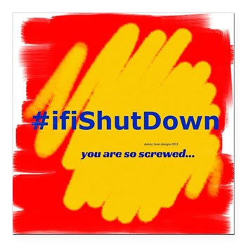"#ifiShutDown Square Car Magnet 3"" x 3"""