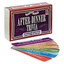 Buy Matchbox After Dinner Trivia Online at johnlewis.com