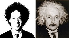 Gladwell and Einstein, men of big hair
