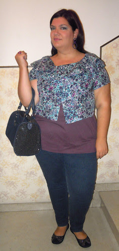 Mauve and blue outfit
