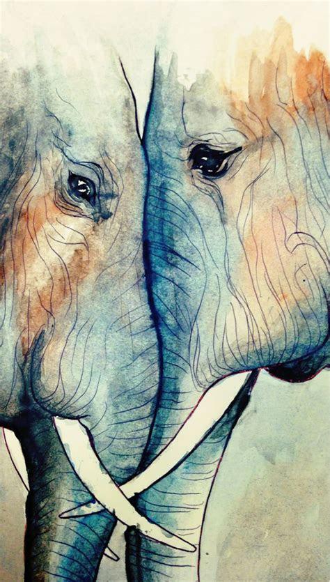 elephant watercolor ideas  pinterest elephant