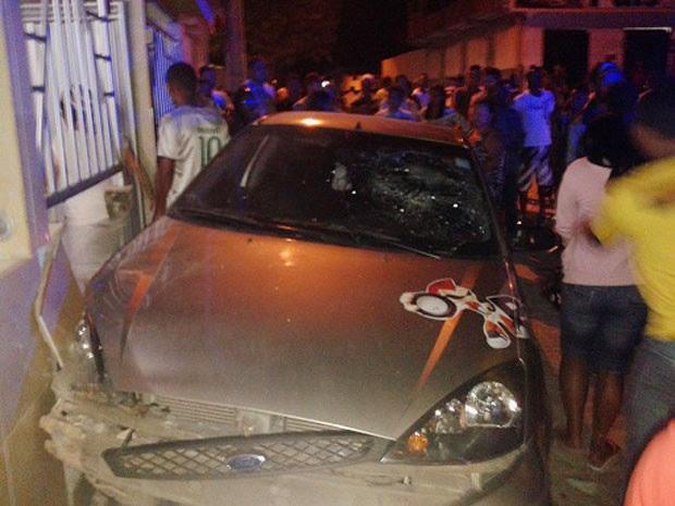 Segundo PM, vítima sofreu apenas ferimentos leves (Foto: Marcos Frahm/Blog Marcos Frahm)