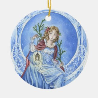 Christmas Light art nouveau ornament