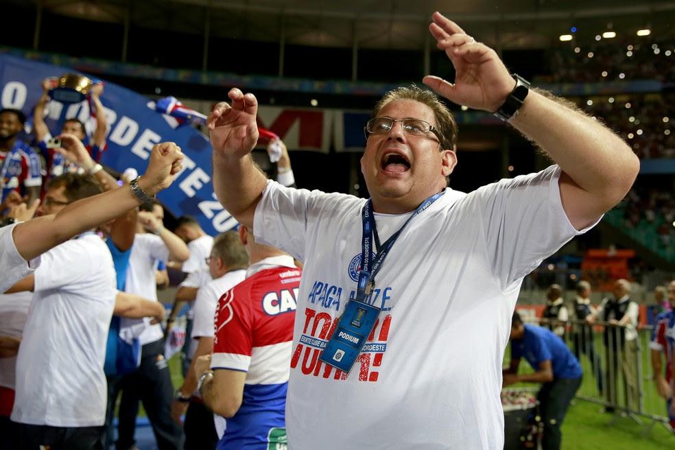 Guto Ferreira foi campeão da Copa do Nordeste com o Bahia (Foto: Felipe Oliveira / Divulgação / E.C. Bahia)