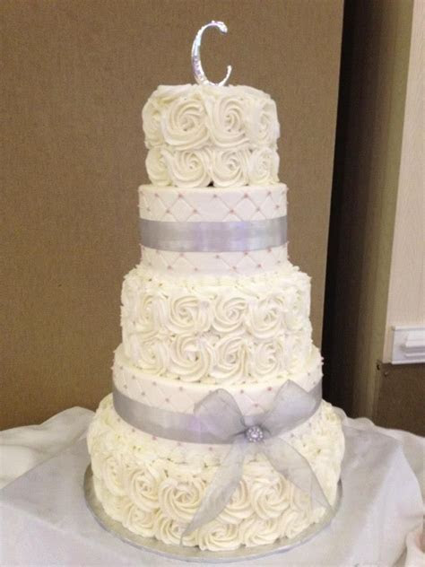 Swirl Rose wedding cake delivered to Grandover Resort in