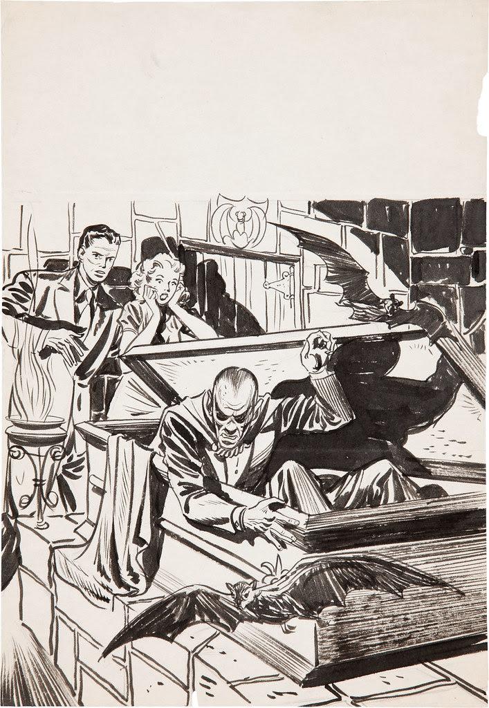 Warren Kremer - The Beyond #2 Concept Sketch (Ace, 1951)