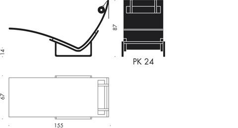 PK24 - PK24, Chaiselongue - Fritz Hansen