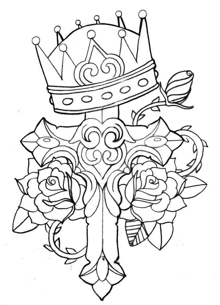 New Queen Crown And Banner Tattoo Designs In 2017 Real Photo