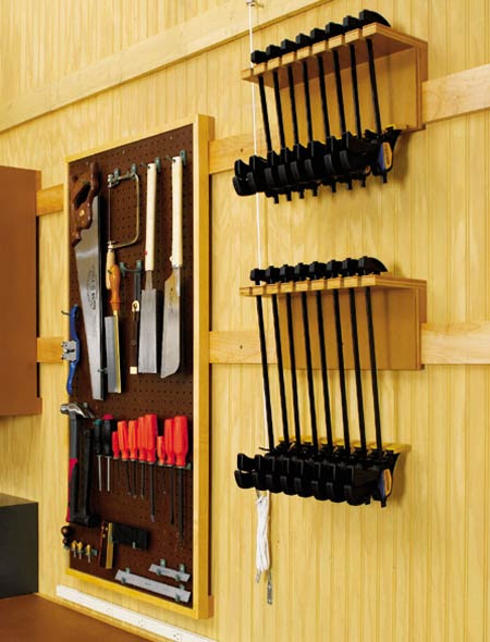 Might Wood Plans More Woodworking Clamp Rack