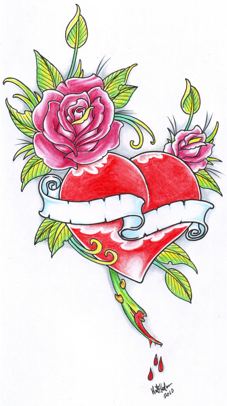 Pictures Of Hearts And Roses And Stars Tattoos Kidskunstinfo