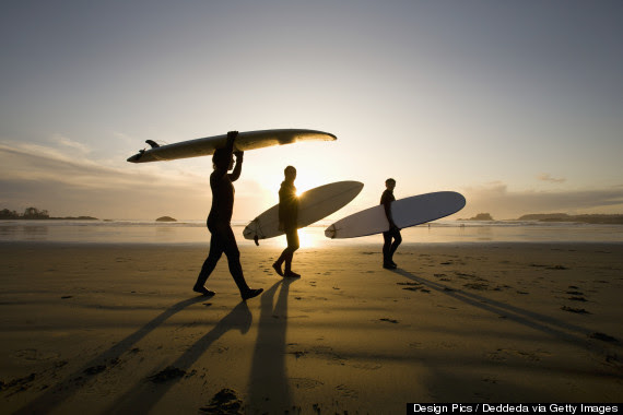 early morning surfing