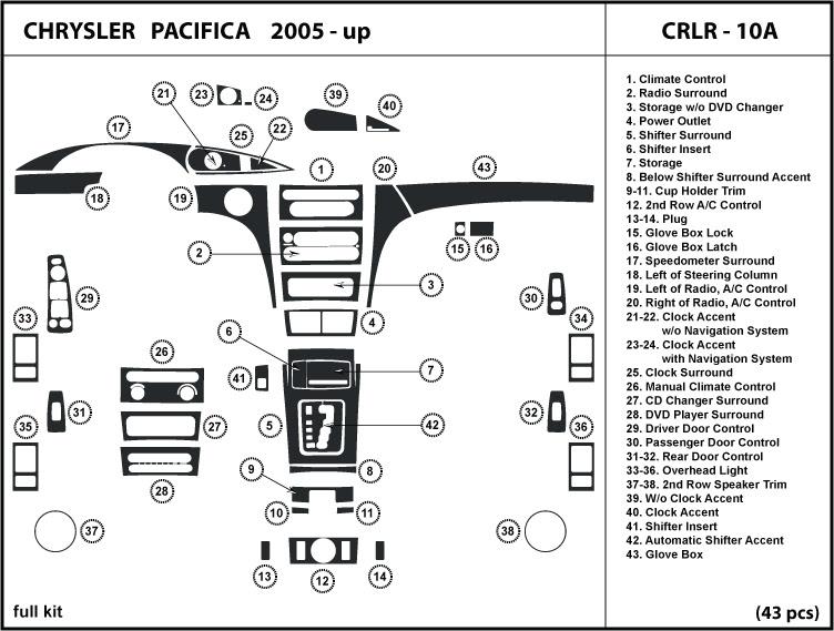 Wiring Diagram  34 2005 Chrysler Pacifica Parts Diagram