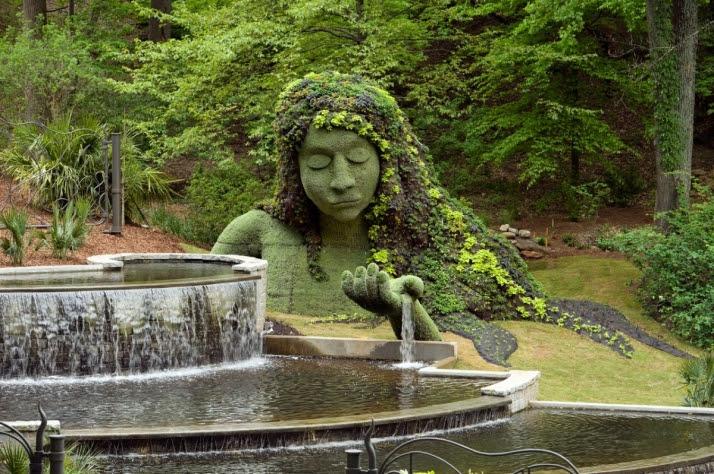 Earth goddess. Imaginary Worlds exhibit, Atlanta Botanical Garden. Photo by C. Joey Ivansco. Used by permission.