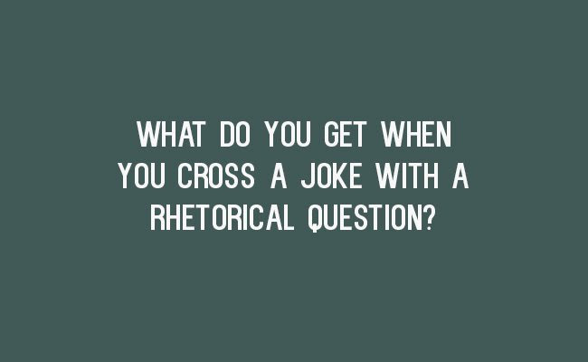 Image result for rhetorical question