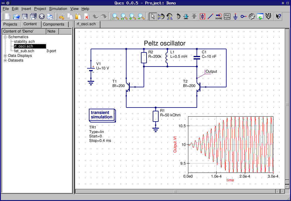 Electrical Circuit Simulation Software