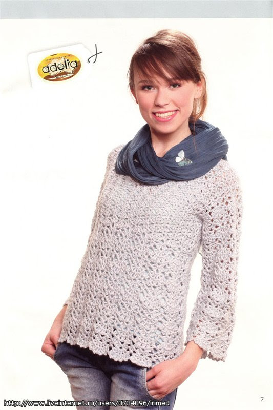 HOOK: Openwork sweater