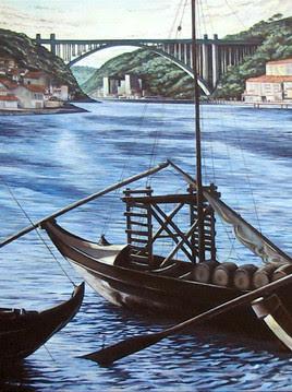 Peinture barque sur le douro