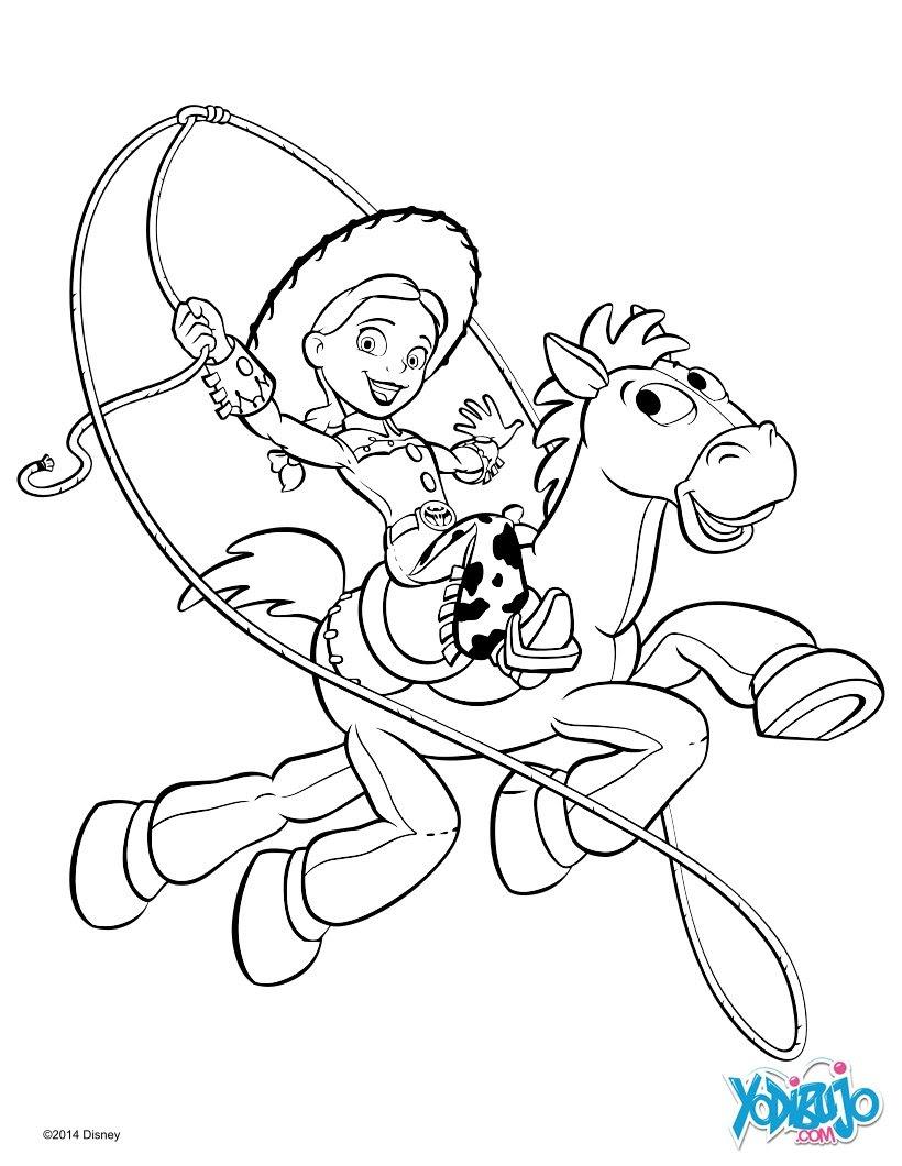 Dibujos Para Colorear Jessie Y Perdigon De Toy Story Es Hellokids Com