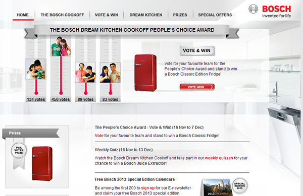 Bosch Dream Kitchen - Vote for Team D