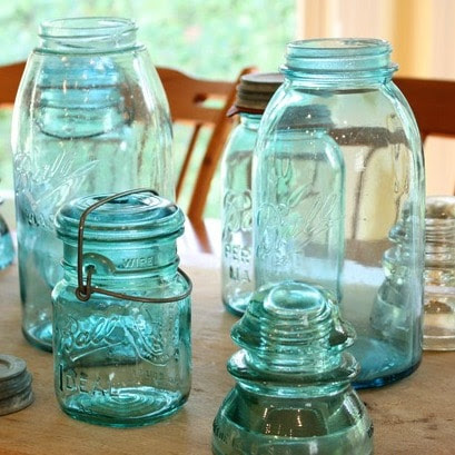 Vintage Bell Jar Centerpieces