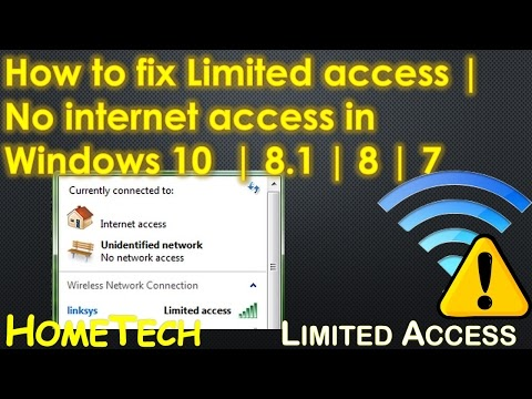 Madison : Windows 10 network access type no internet access