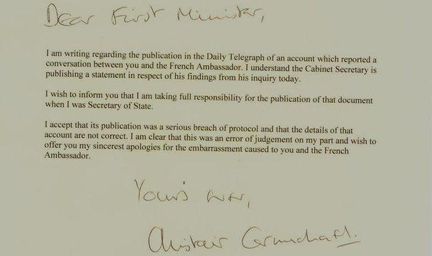 Letter from Alistair Carmichael to Nicola Sturgeon