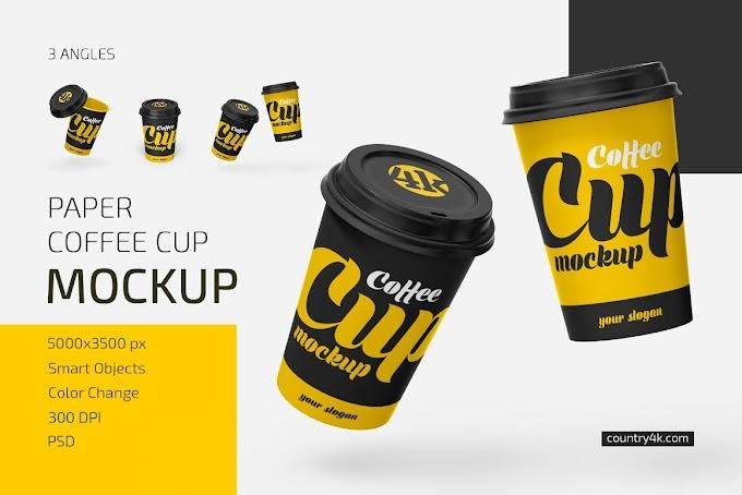 Paper Coffee Cup Mockup Set 5338895