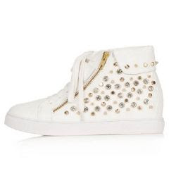 Topshop Accelerate Stud Wedge Sneakers