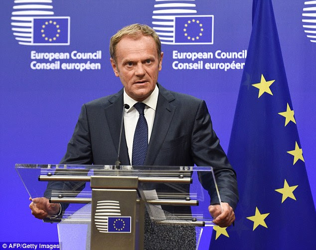 Even Downing Street appeared to distance itself from the comments by Mr Tusk