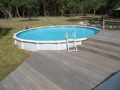 Above ground pool decks on Pinterest