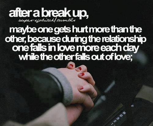 After Break Up  Love and Sayings