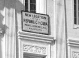 Detalle de la fachada de la Legación de Cuba