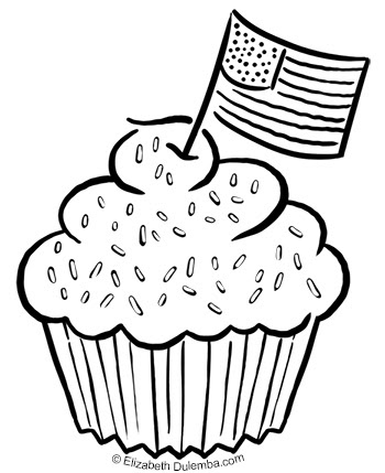 blue and sprinkle coloring pages | dulemba: Coloring Page Tuesday - July 4th Sprinkles