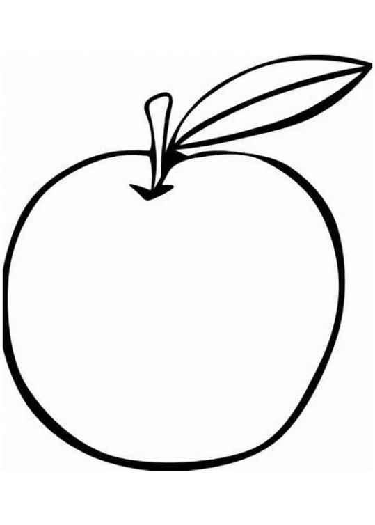 Ausmalbilder für Kinder Apfel 20