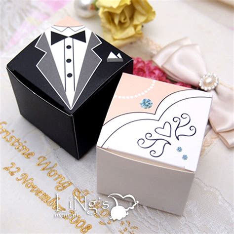 bride groom tuxedo dress decoration wedding favor gift