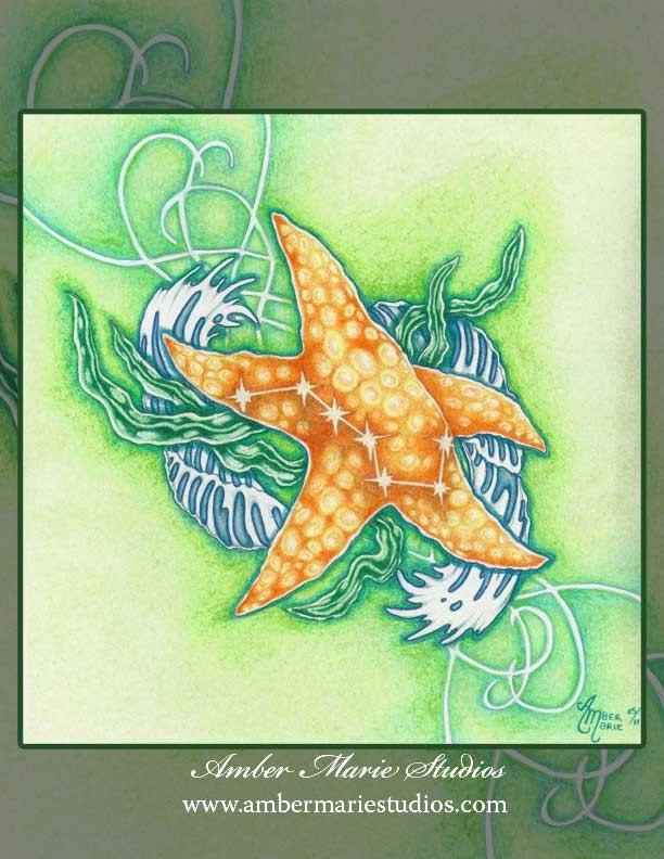 """8 x 10 Starfish Print """"Starfish Balance"""" by Amber Marie"""