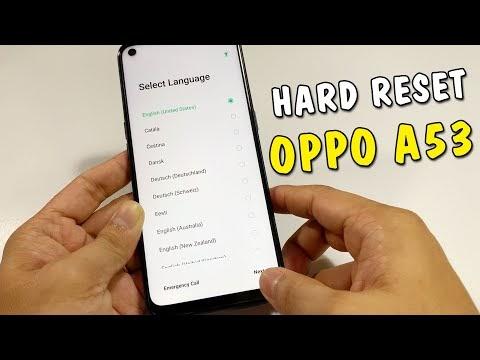 Hướng dẫn Hard Reset Oppo A53 2020