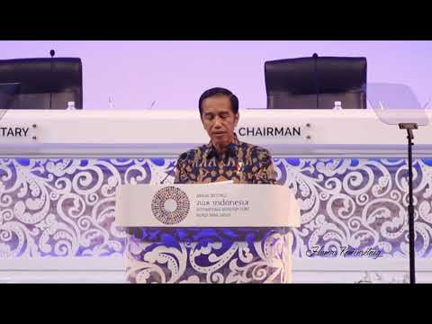 Pidato 'Game Of Thrones' Presiden Jokowi di Annual Meeting IMF - WBG 2018