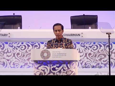 Pidato 'Game Of Thrones' Presiden Jokowi di Annual Meeting IMF - WBG 2018