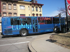 Connect -- Pittsburgh bus, marketing graphics