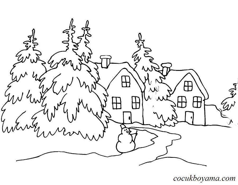 Kış 24 ücretsiz Boyama Resimleri