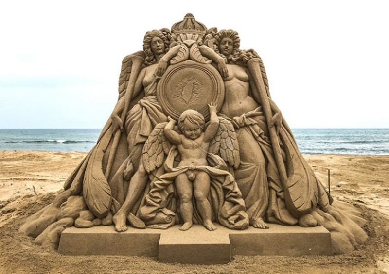 As extraordinárias esculturas de areia de Toshihiko Hosaka 07