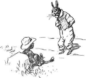 Br'er Rabbit and the Tar-Baby, drawing by E.W.
