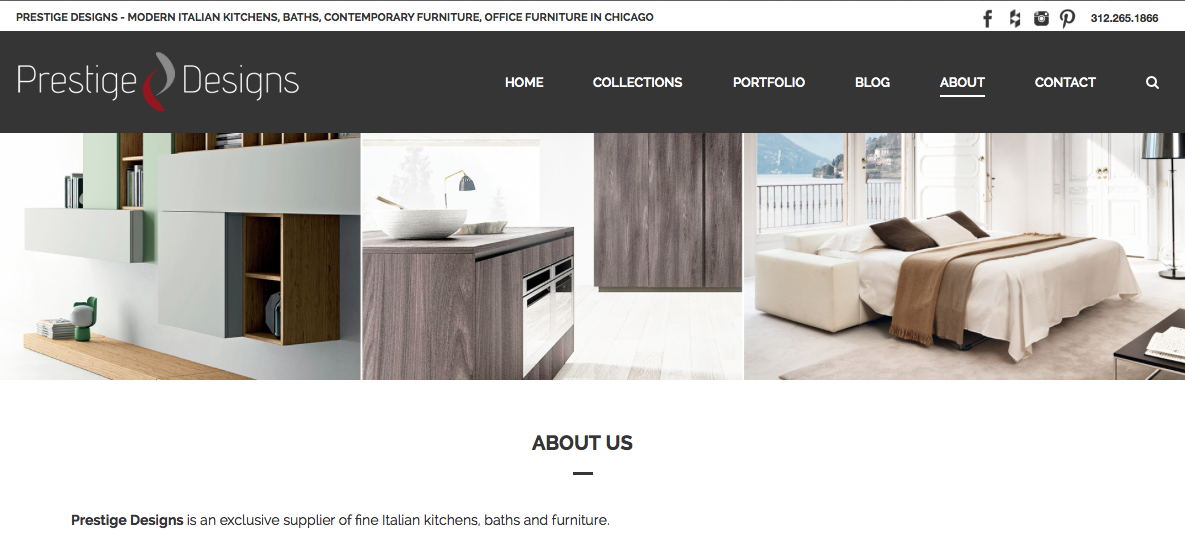Paradigmnext Designs New Website For Prestige Design Showroom Now