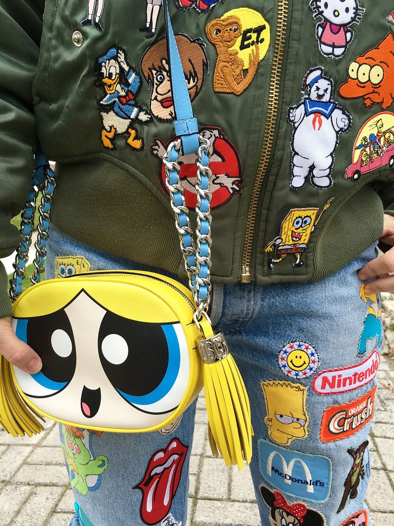 photo Cailli Beckerman-Patchwork jacket-moschino bag-powerpuff-beckermandiy-4_zps5zumnunj.jpg