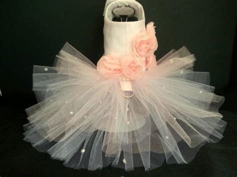 Rose Couture Dog Harness Dress. XXSmall Dog Dress To