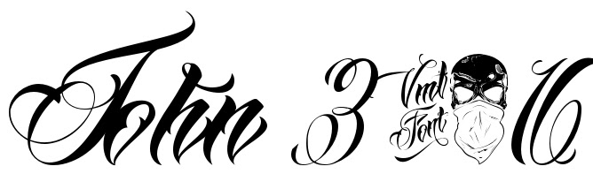 John 316 Tattoo Script Free Scetch