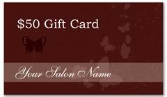 CPS-1019 - salon coupon card