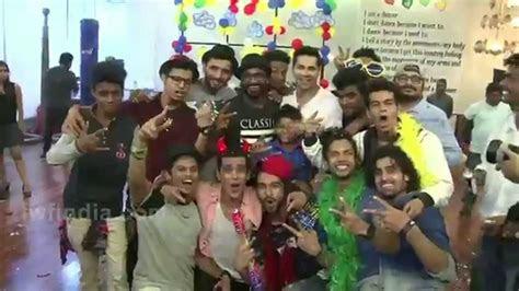 varun dhawan  abcd  team enjoys  happy birthday