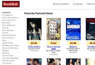 像BookBub軌道這樣的網站聚攏了許多零售商的廉價電子書生意。